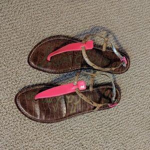 Sam Edleman Neon pink thong sandals 8.5
